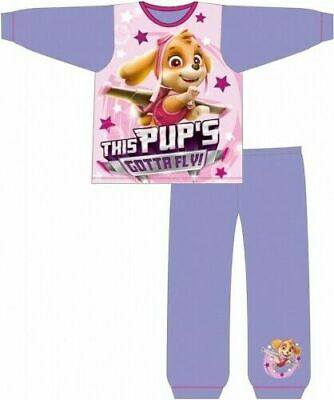 Paw Patrol Pyjamas Childrens Kids Girls Pink Purple PJs Age 18 Months -5 Years