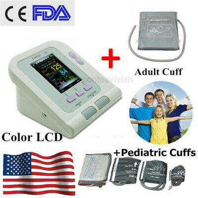 CONTEC08A Color Blood Pressure Monitor BP Machine Pediatric Adult 4 Cuffs+ PC SW