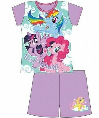 My Little Pony Pyjamas Childrens Kids Girls Purple PJs Age 4-10 Years