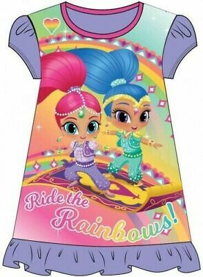 Shimmer and Shine Childrens Kids Girls PJs Nightdress Nightie Age 2-6 Years