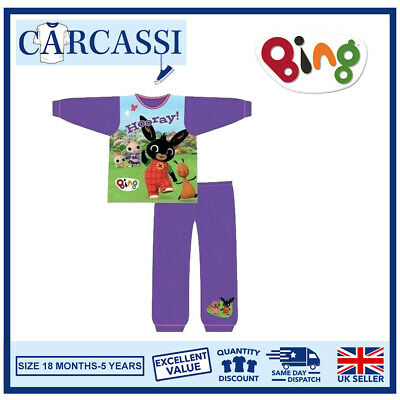 Bing Pyjamas Childrens Kids Girls Purple Blue PJs Age 18 Months -5 Years