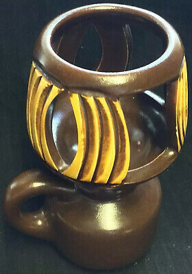 Vintage Beit Hayoster Hand Made Pottery Rare Mid Century Candle Holder Israel