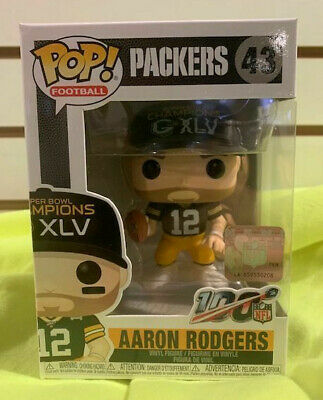Aaron Rodgers Superbowl Champ Xlv Pop Football Nfl Vinyl Figure Funko New