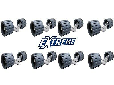 Extreme 4 Alloy Wing Bracket 8 Non Marking Wobble Rollers Grey Boat Trailer