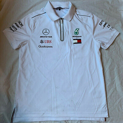Mercedes AMG Petronas F1 Tommy Hilfiger Race Polo 2018 Medium Used Team Issue