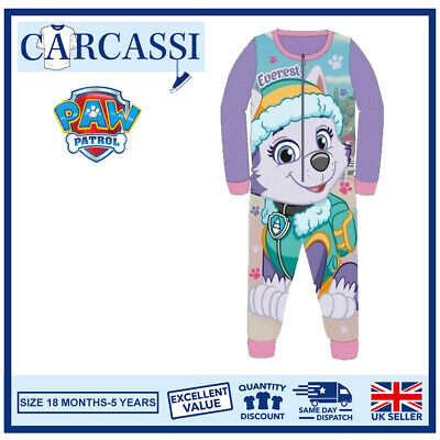 Paw Patrol Everest Pyjamas Childrens Kids One Piece PJs Age 18 Month-5 Years