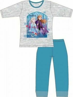 Disney Frozen II Pyjamas Childrens Kids Girls Grey PJs Age 4-10 Years
