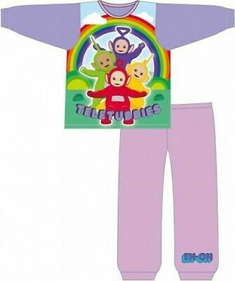 Teletubbies Pyjamas Childrens Kids Girls Purple PJs Age 12 Months -4 Years