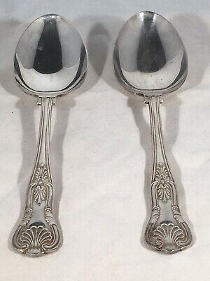 2 x Silver Plated serving spoons kings pattern epns