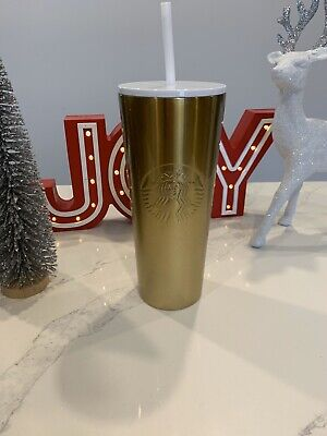 Starbucks Holiday 2019 Venti Gold Tumbler Limited Edition Brand New Fast Ship