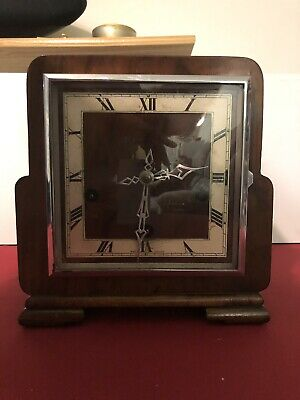 Enfield Art Deco  Westminster Chime Mantel Clock With Key But Chime Not Working