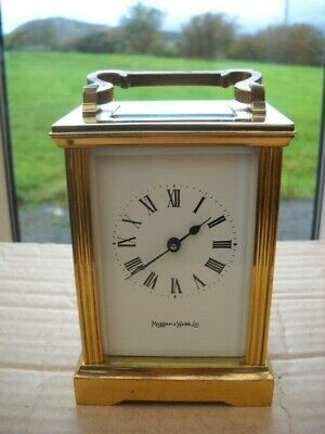 A Nice French Carriage Clock By Mappin & Webb In G.w.o.