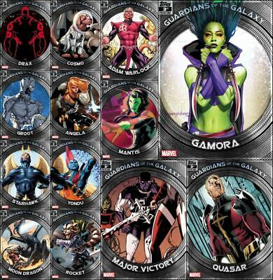 Topps Marvel Collect GUARDIANS OF THE GALAXY [13 CARD 3rd Printing SET] Gamora+