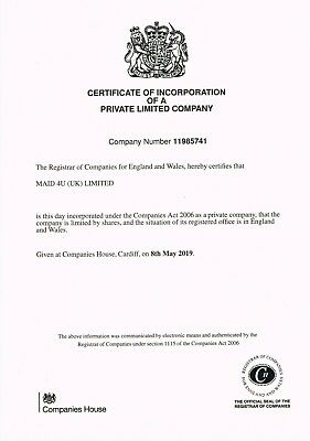 Uk Dormant Limited Company For Sale