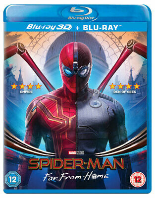 Spider-Man: Far From Home [Blu-ray 3D + 2D] (2019) Spiderman 2 Marvel Avengers