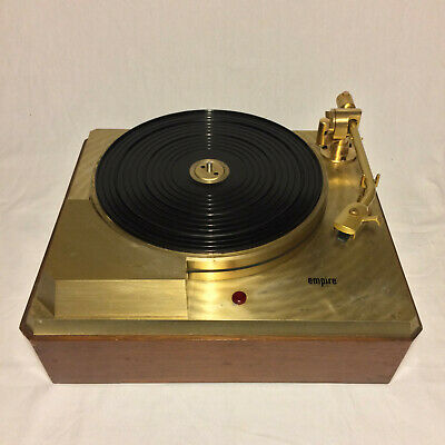 Vintage Empire 398 Gold Turntable Working
