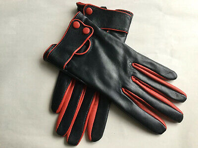 Vintage Ladies Leather Gloves Size 7