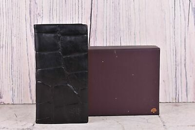 Mulberry Black Leather Pocket Congo Address Book Brand New with Tag with Box