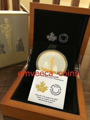 CANADA 2019 Masters Club Peacekeeping 2oz Renewed Silver Dollar Pure Silver Coin