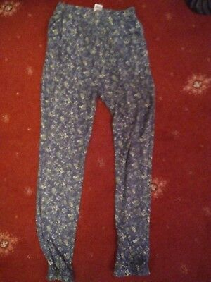 Girl's Lightweight Floral Trousers. FandF. Aged 11/12