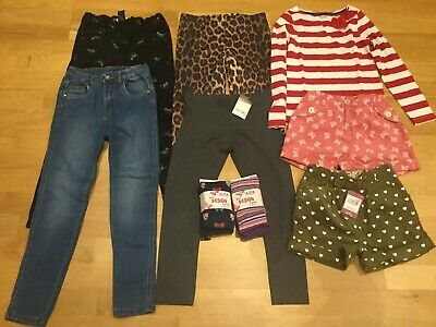 Girls Clothes Bundle Age 7-8 River Island Next Jeans Leggings Shorts Tights