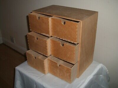 Set of 6 Small Drawers - Kitchen, Workshop, Shop, Office.