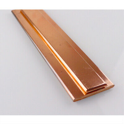 """Pure Copper Plate Anode 99.98/% Bright Electroplating Sheet 1/"""" x 6/"""" x 0.03/"""""""