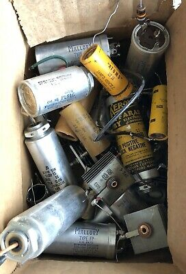 Vintage Capacitor Lot Mallory, Aerovox, Sprague & More!