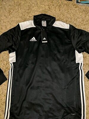 Adidas Climalite Mens Track Top, Size Large - Black - New