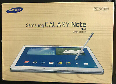 """Samsung Galaxy NOTE 10.1"""" 2014 WiFi 16GB Android Tablet with Stylus Pen - White"""