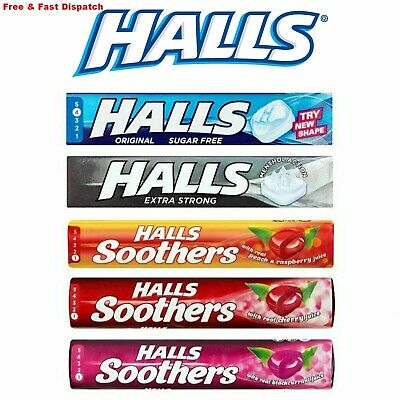 20 x Halls Drops Original Flavoured Sweets with Liquid Centres (Pack of 20)