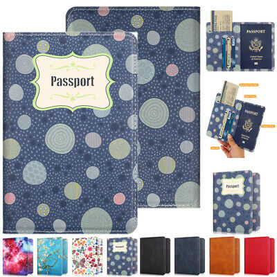 Passport Travel Holder ID Card Pouch Wallet Slim Organizer Protector Cover Case