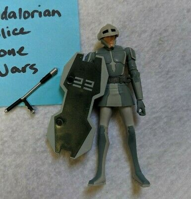 Star Wars Mandalorian Police Action Figure 3 3/4 Inch With Shield / Weapon 2010