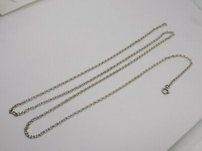Antique Long Length Sterling Silver Chain. 31inch. Hallmarked Sterling. 8grams.