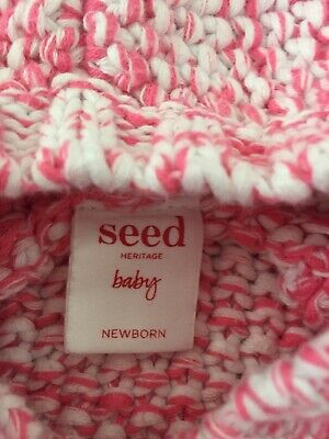 Bargain Seed Heritage Baby Girl's Hooded Cardigan Newborn Great Condition