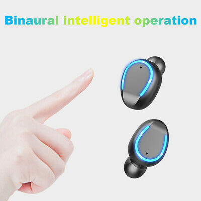 Stylish Stereo Sound Headset Wireless Twins Earbuds Earphones Bluetooth LED