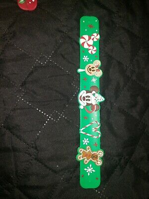 Mickey Gingerbread Slap Bracelet Christmas Holidays Disney World Theme Parks