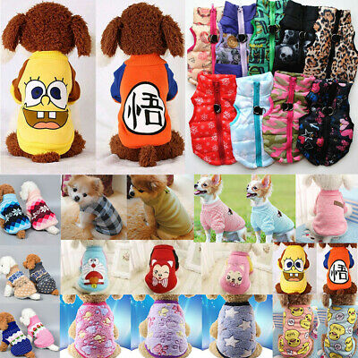 Pet Dog Cat Warm Fleece Vest Clothes Coat Puppy Shirt Sweater Winter Apparel