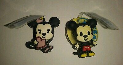 JIBBITZ DISNEY CUTIES Lot 2 CROC RUBBER SHOE CHARMS! Mickey & MINNIE MOUSE NWT!!