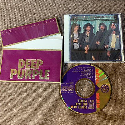 DEEP PURPLE New, Live & Rare JAPAN 24k GOLD CD 35DN-151 w/top open Case+Booklet