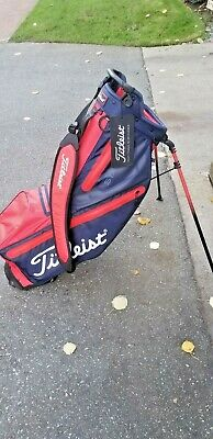Black New Leist Players 4 Usa Stand Bag Golf Limited