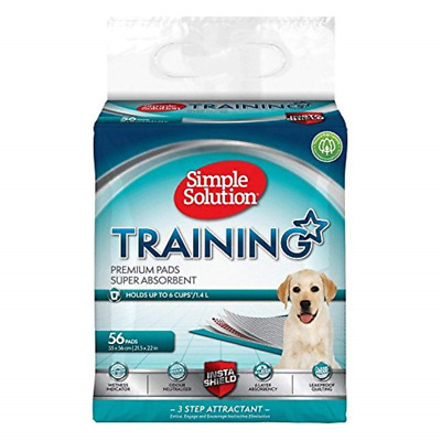 Simple Solution Premium Dog and Puppy Training Pads, Pack of 56