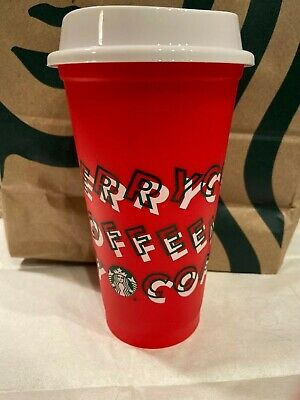 Starbucks 2019 Limited Edition 16oz Grande Reusable Red Cup