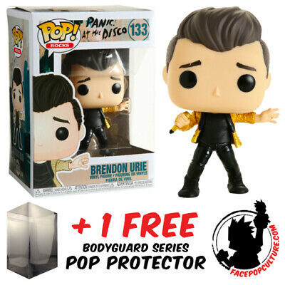 Funko Pop Panic At The Disco Brendon Urie Exclusive + Free Pop Protector