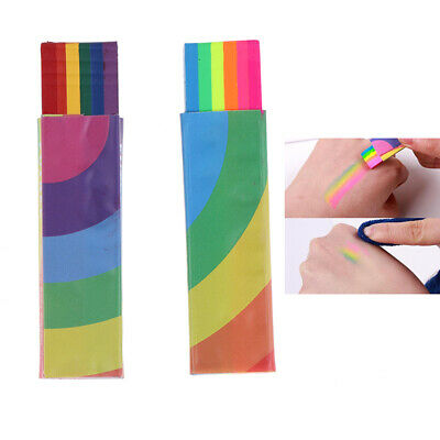 Rainbow Face Body Paint Colored Painting Stick Pen Tattoo Pigment Halloween Too`
