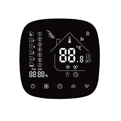 Thermostat Wifi avec écran tactile LCD Affichage hebdomadaire programmable H4I8