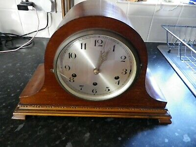 Vintage Napolean Hat Mantle Clock Full Westminster Chime Needs a service