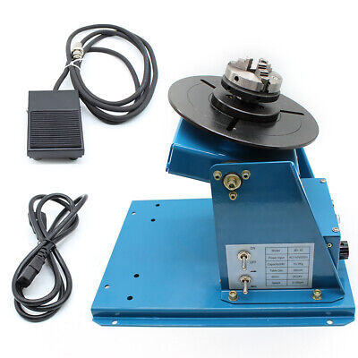 110V Rotary Welding Positioner Turntable Table Foot Pedal Mini Chuck Power Line