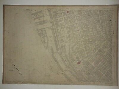 Old Antique Ordnance Map 1927 Lancashire XCIII.2 Liverpool Brunswick and Docks .