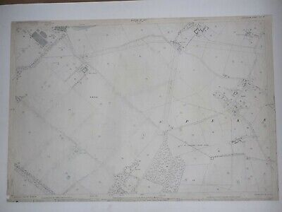 Old Antique Ordnance Map 1927 Lancashire CXIV.13 Liverpool Widnes Speke Airport.